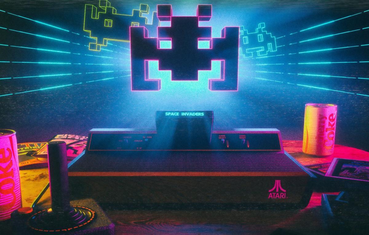 Приставка Atari с игрой Space Invaders / goodfon.ru