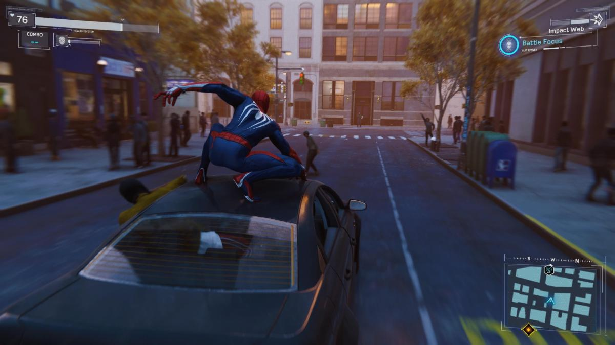 Кадр из игры Marvel's Spider-Man / скриншот