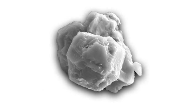 Частичка звездной пыли размером около 8 микрометров / Фото: Janaína N. Avila.