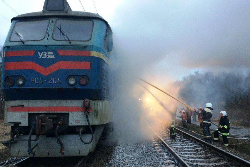 У потягу перебували 254 пасажира та 11 чоловік обслуговуючого персоналу / фото ДСНС
