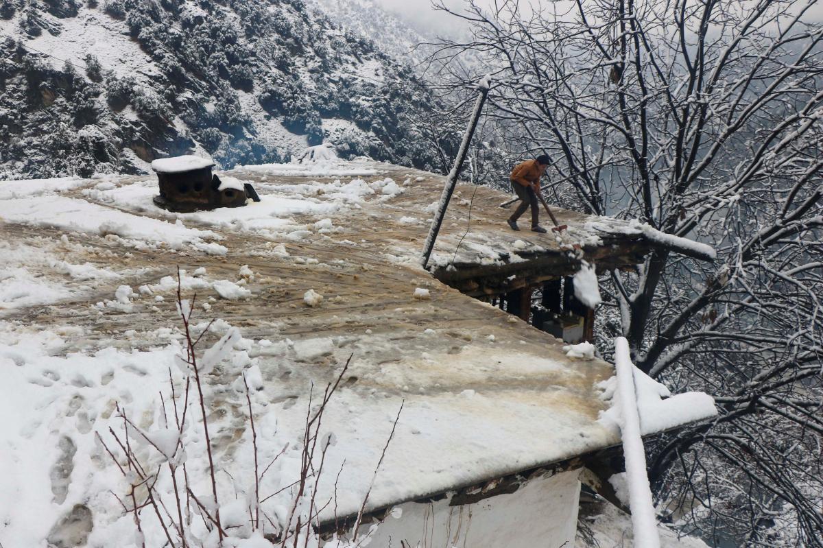 Снегопад в Пакистане / REUTERS
