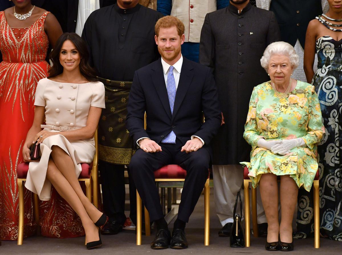 Королева Елизавета ІІ, принц Гарри, Меган Маркл / фото REUTERS