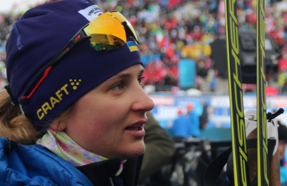 Юлия Журавок претендовала на победу в гонке / фото: biathlon.com.ua