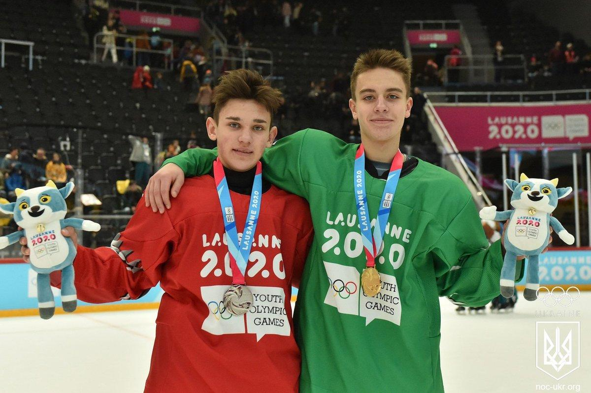 Хоккеисты Владимир Трошкин и Денис Пасько / фото: НОК Украины