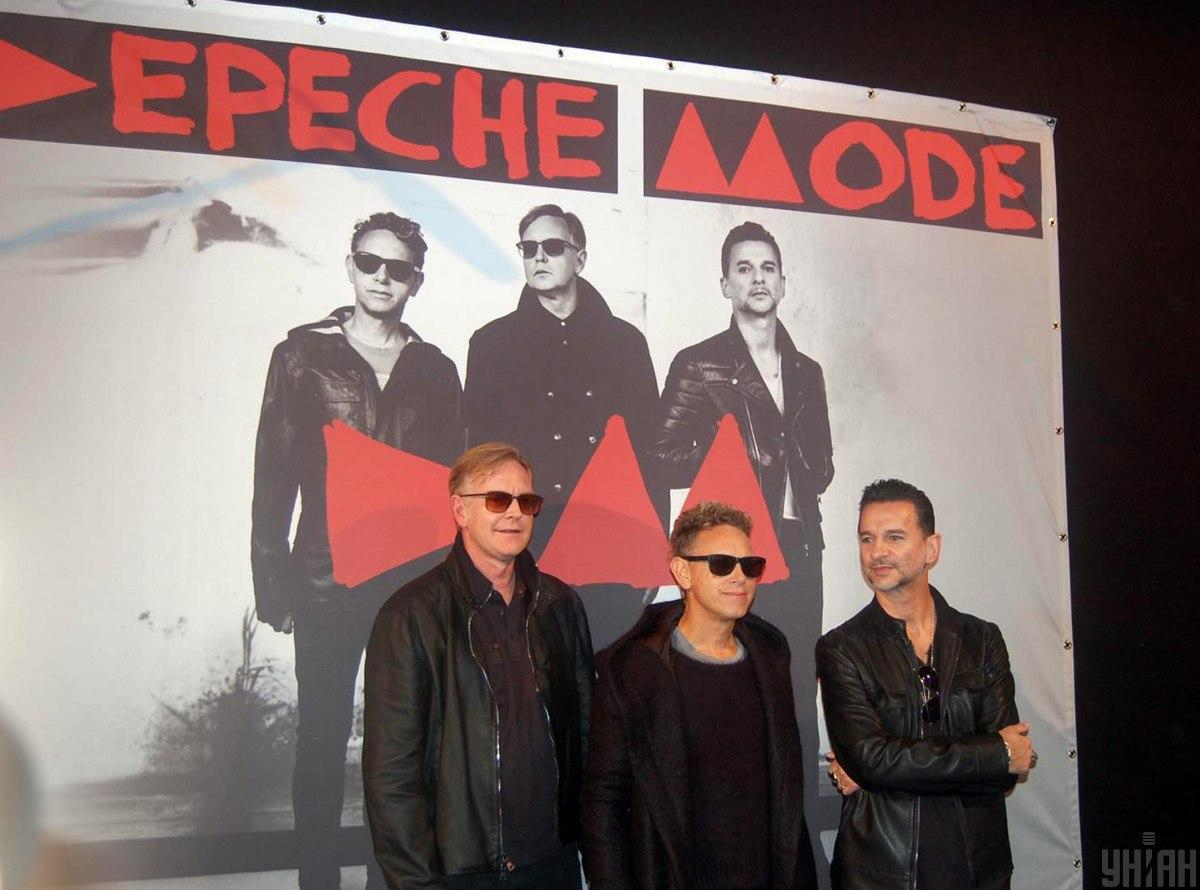 Учасники гурту Depeche Mode Ендрю Джон Флетчер, Мартін Гор і Дейв Гаан / фото УНІАН