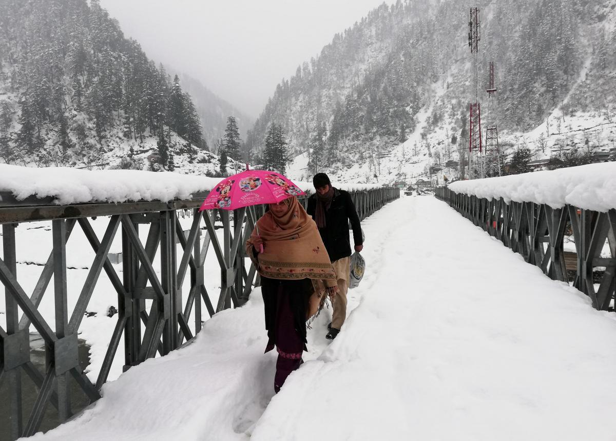 Снегопады в Пакистане / REUTERS