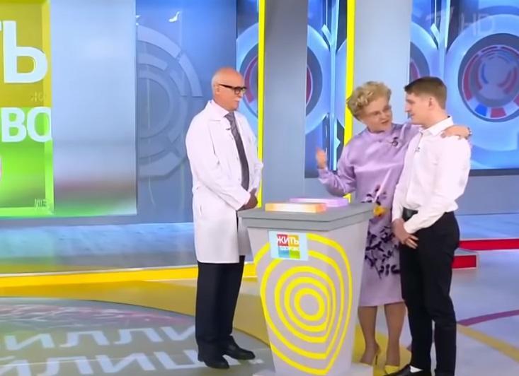 Елена Малышева снова ведет себя странно на ТВ/ скриншот