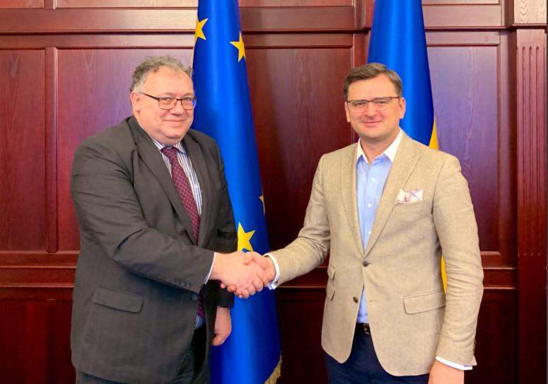Дмитрий Кулеба встретился с послом Венгрии в Киеве Ийдярто / Twitter, Dmytro Kuleba
