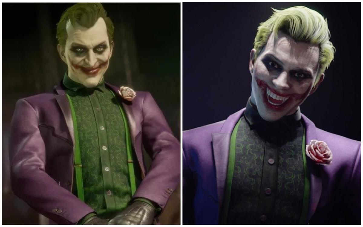 Зліва Джокер зі зміненою зовнішністю, праворуч Джокер, якого спочатку показала студія / скріншот