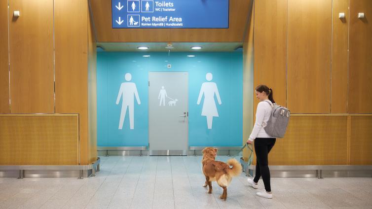 Всего таких туалета сделали два / Фото: finavia.fi