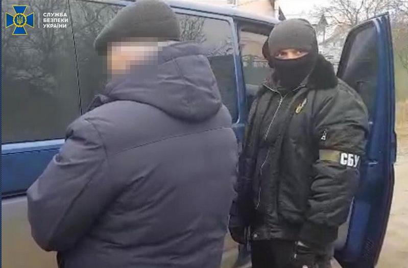 Задержанному объявлено о подозрении / Фото: СБУ