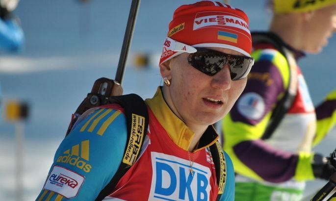 Пидгрушная не смогла показать чистую стрельбу / фото: biathlon.com.ua