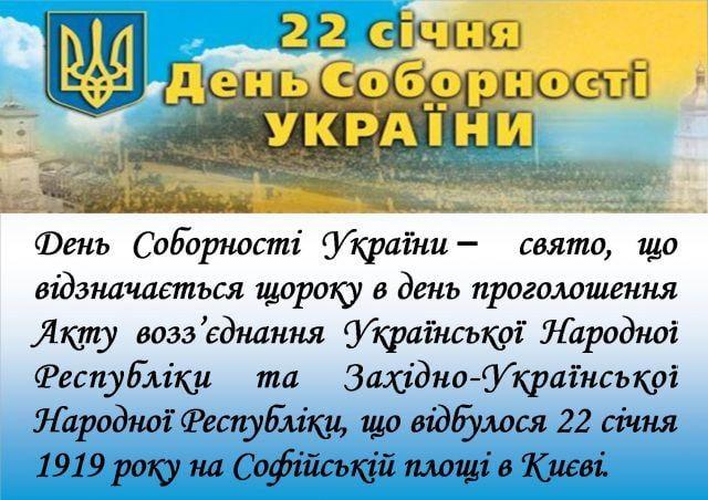 День соборності України дата