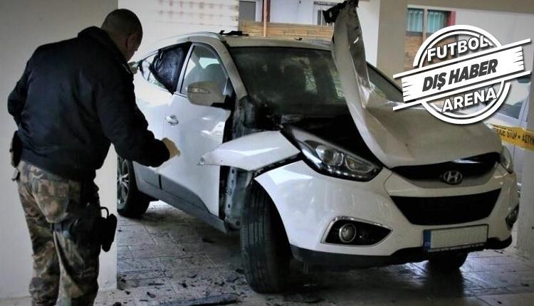 Автомобиль арбитра после взрыва / фото: twitter.com/futbolarena