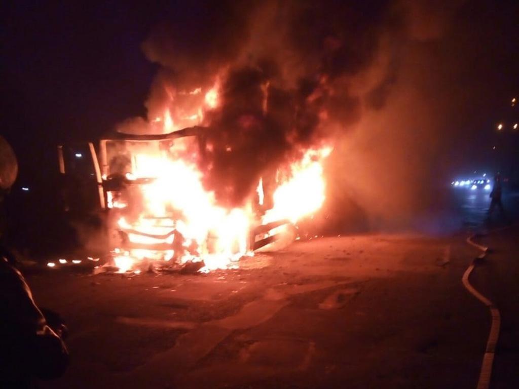 На Днепропетровщине сгорел грузовик / ГСЧС