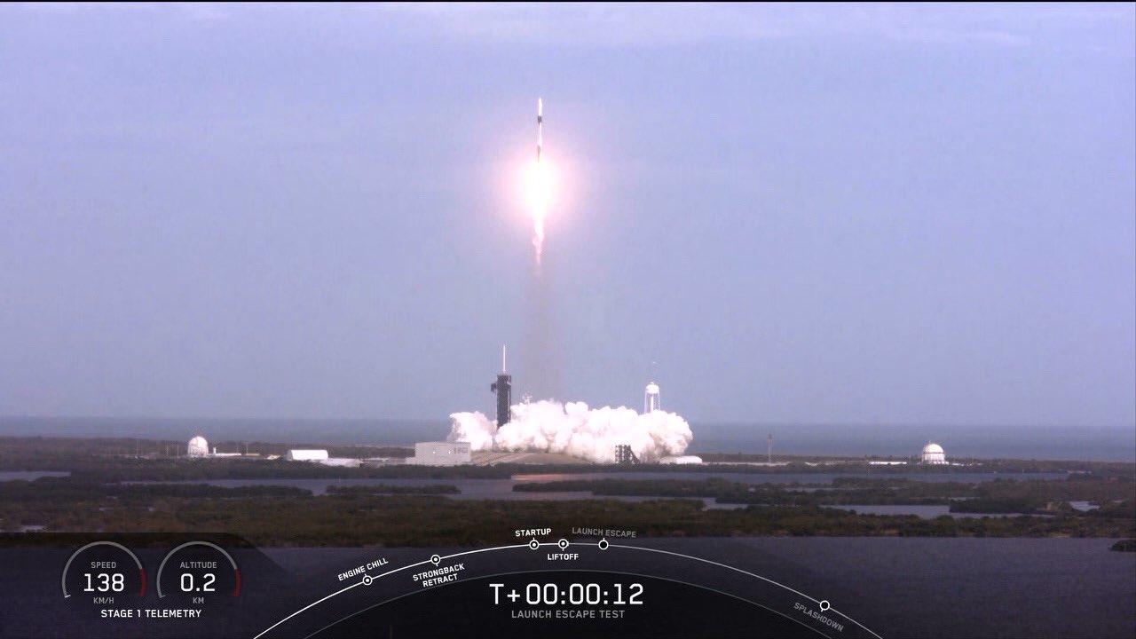 В США взорвали ракету Falcon 9 успешно испытали корабль Crew Dragon / Twitter, Jim Bridenstine