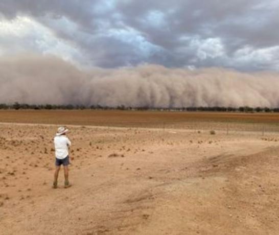 Бури начались в городе Нарромин в Новом Южном Уэльсе / twitter.com/jen_browning