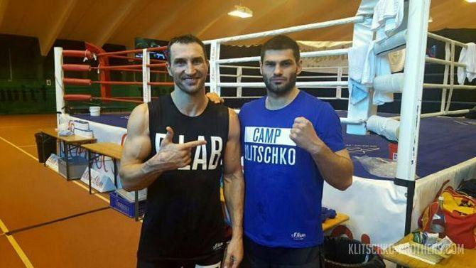 Владимир Кличко и Филип Хргович в тренировочном лагере / фото: klitschko-brothers.com