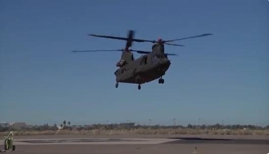 Вертолет CH-47F Block 2 с новыми лопастями совершил первый полет / Скриншот