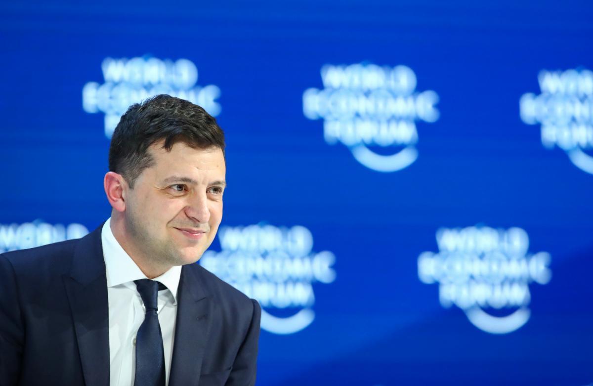 Zelensky at WEF 2020 / REUTERS