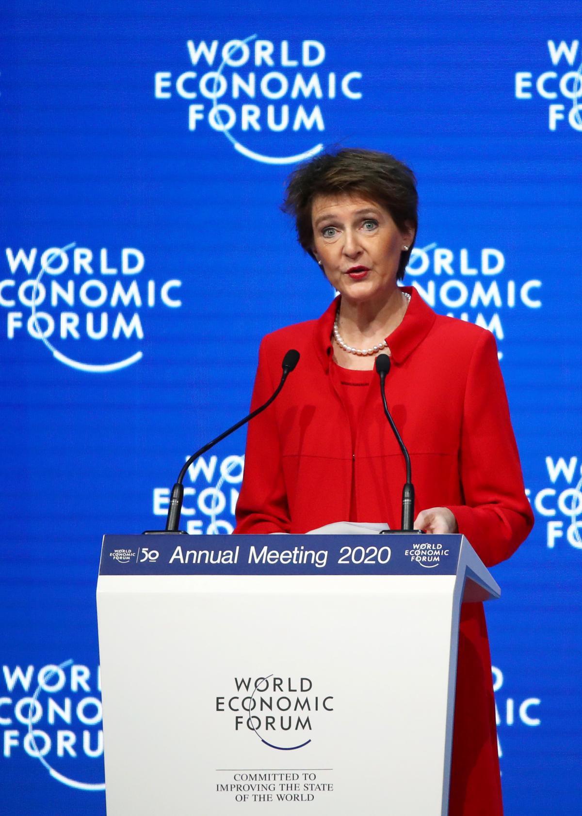Simonetta Sommaruga at WEF 2020 / REUTERS