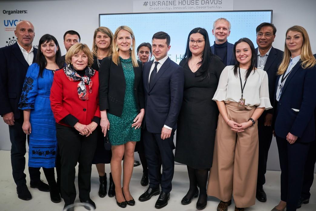 Зеленский пообщался с украинцами в Давосе / Фото: Офис президента
