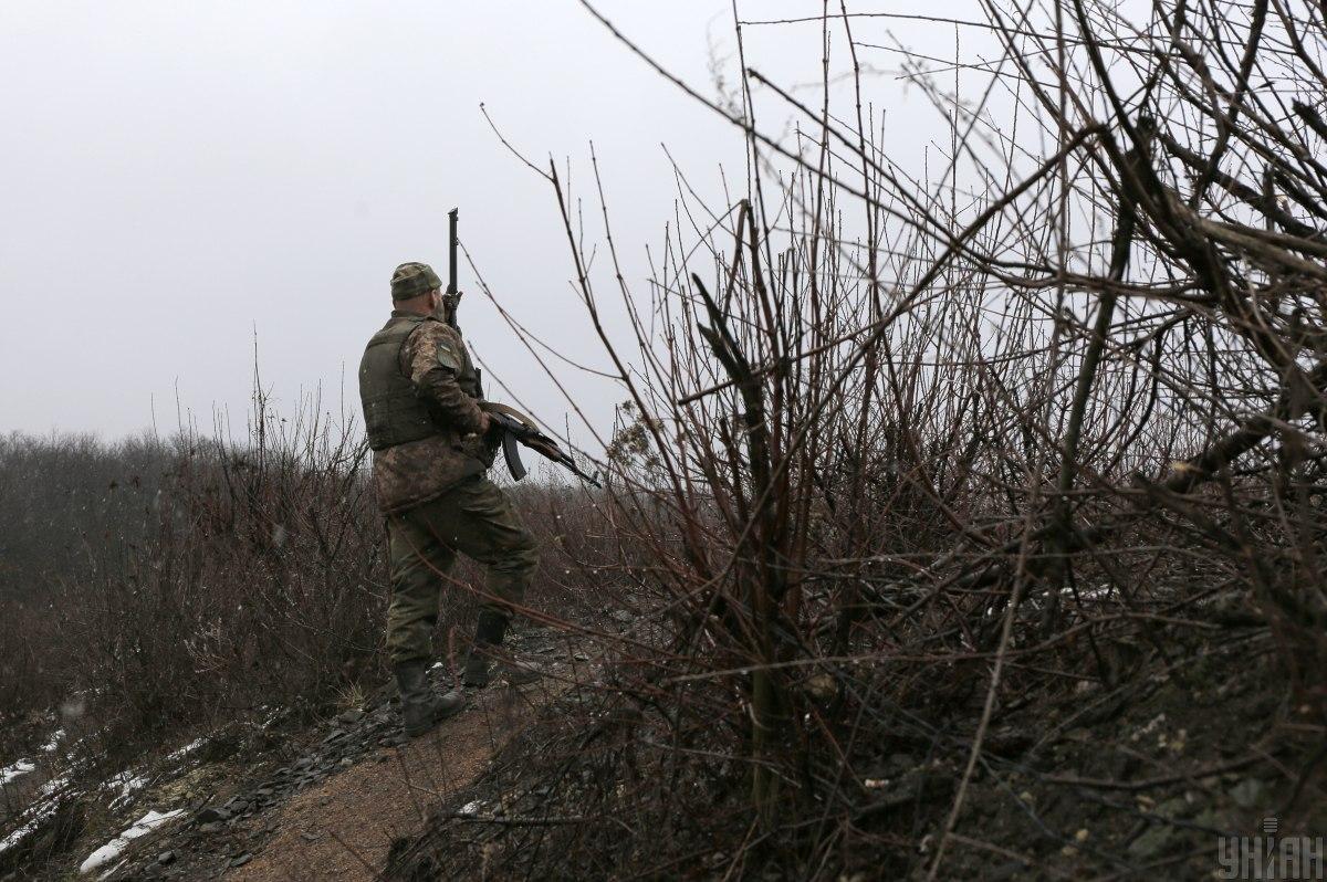 Украинские позиции попали под вражеский огонь / Фото УНИАН