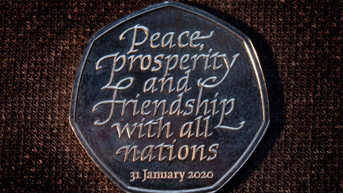 На монеті є дата, коли Британія офіційно покине ЄС - 31 січня 2020 року / фото Sky News