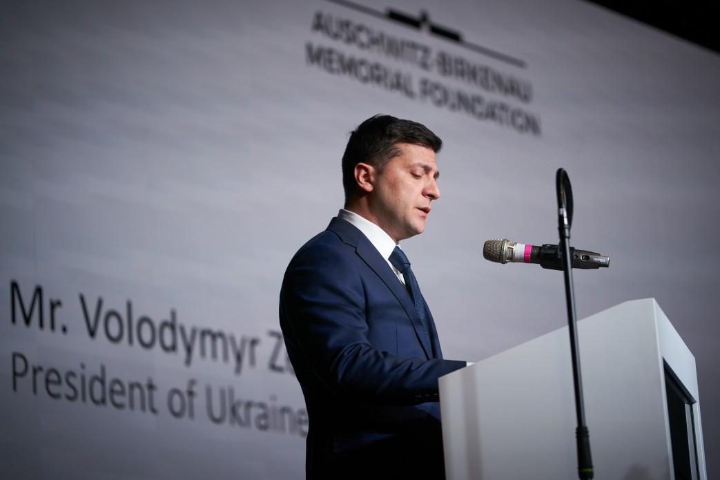 У Польщі Зеленський взяв участь у вечері з нагоди відзначення 75-ї річниці звільнення нацистського концтабору Аушвіц-Біркенау / фото president.gov.ua