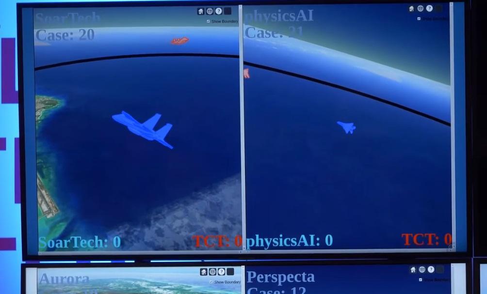 В США искусственный интелект учат воздушному бою / Скриншот с видео - DARPAtv