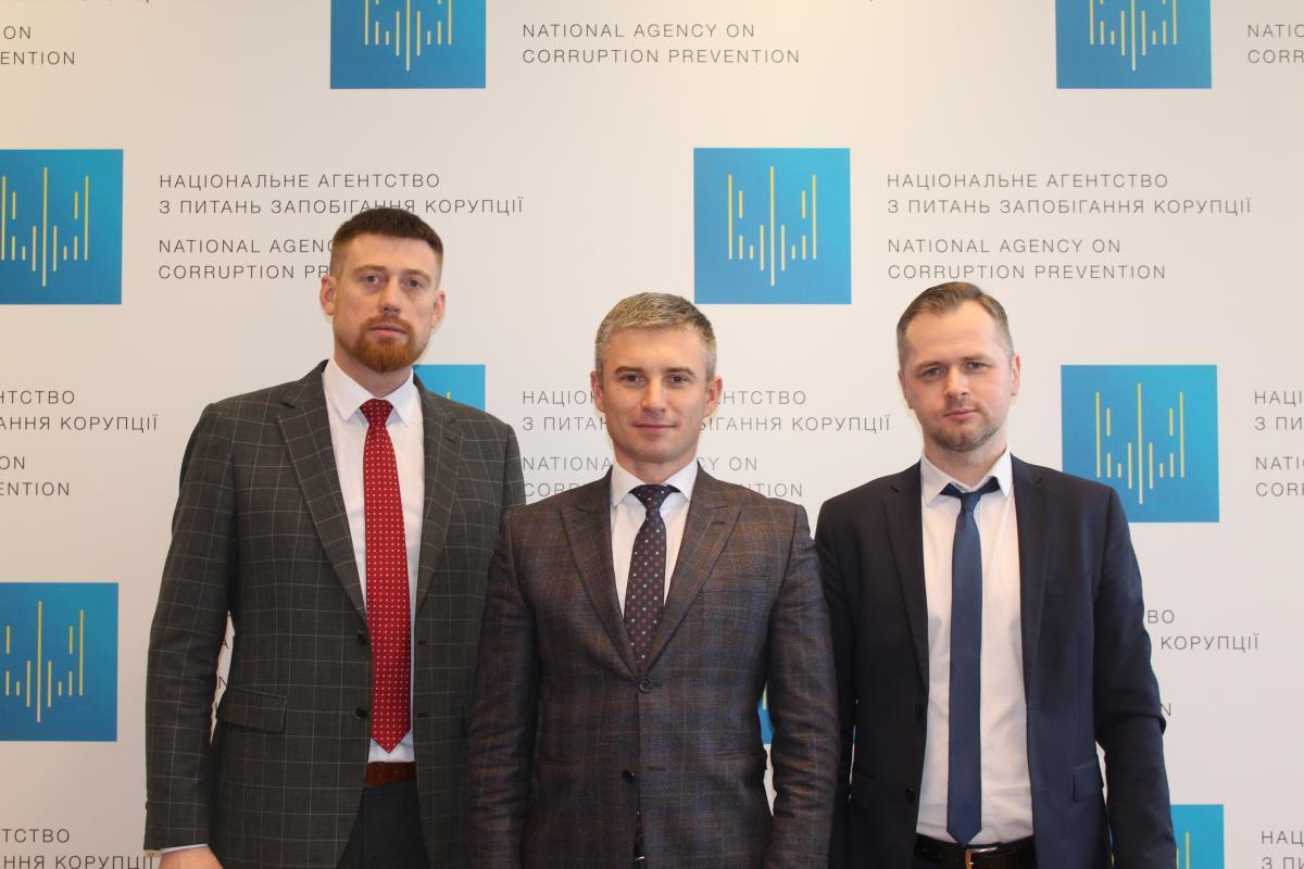 Роман Сухоставец, Александр Новиков, Иван Пресняков / фото НАПК