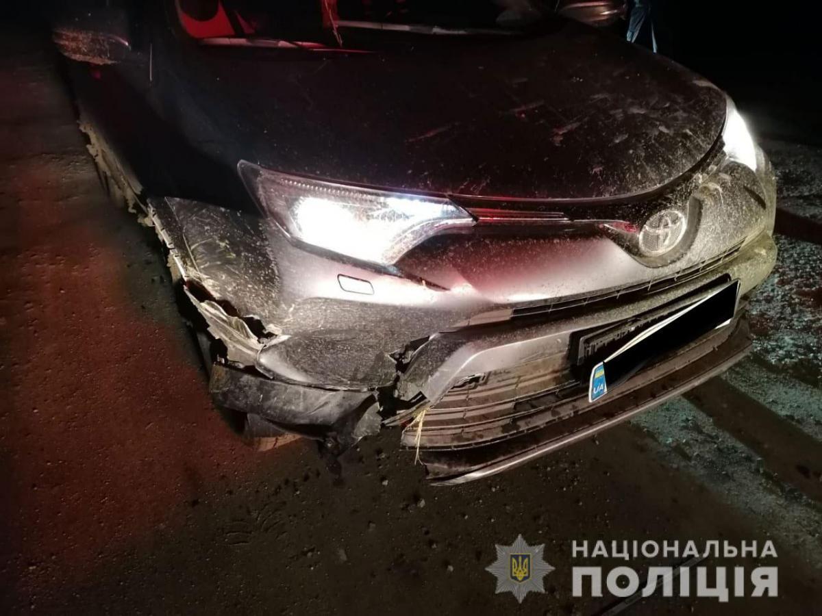Автомобіль отримав пошкодження / Фото: Нацполіція
