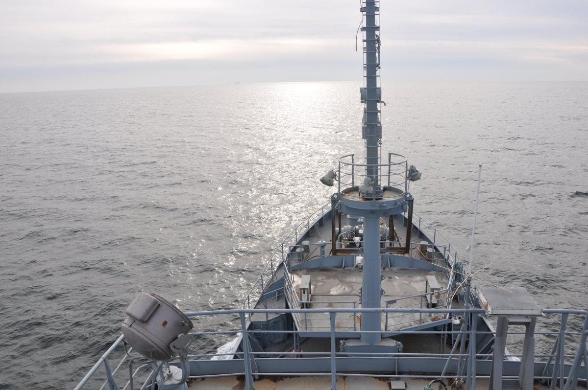Состоялись ходовые испытания судна / Фото: ВМС Украины