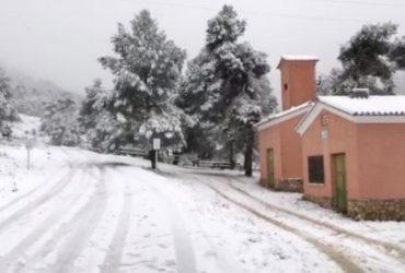 Горные районы Испании завалило снегом (фото)