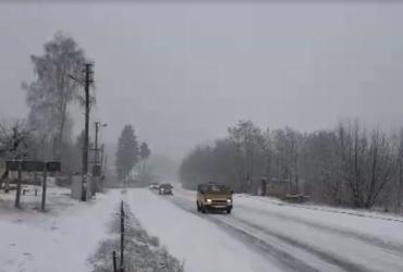Житомирщину накрыл сильный снегопад