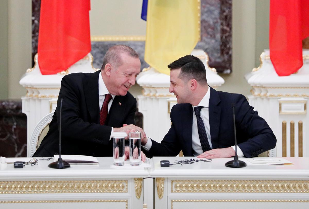 Зеленский поблагодарил лидера ТурцииРеджепа Тайипа Эрдогана за спасение украинских моряков/REUTERS