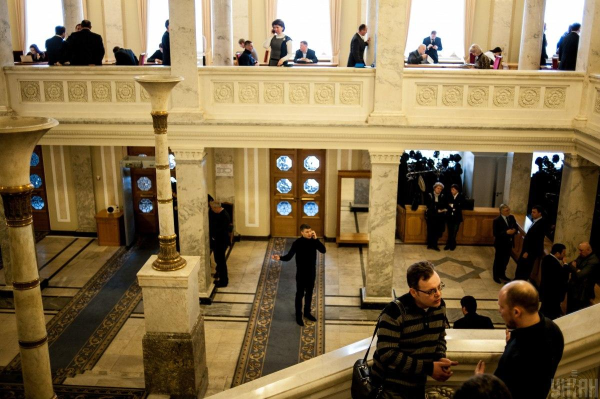 Разумков видав розпорядження, відповідно до якого журналістам заборонено працювати в кулуарах \ фото УНІАН