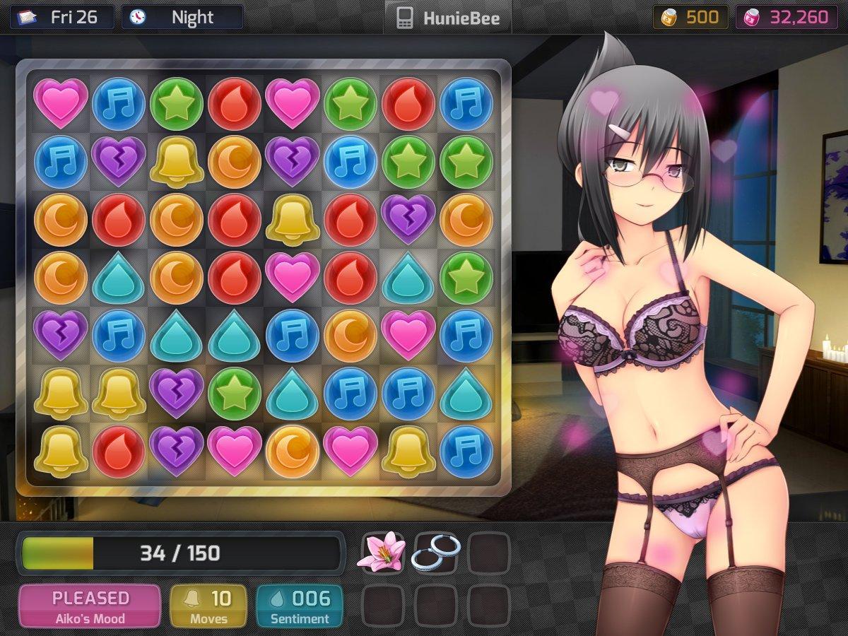 HuniePop – пикантный гибрид пазла с симулятором свиданий / скриншот из игры