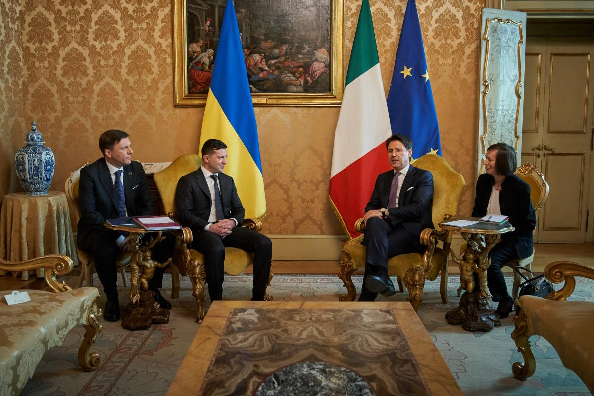 Володимир Зеленський зустрівся з прем'єром Італії Джузеппе Конте / фото president.gov.ua