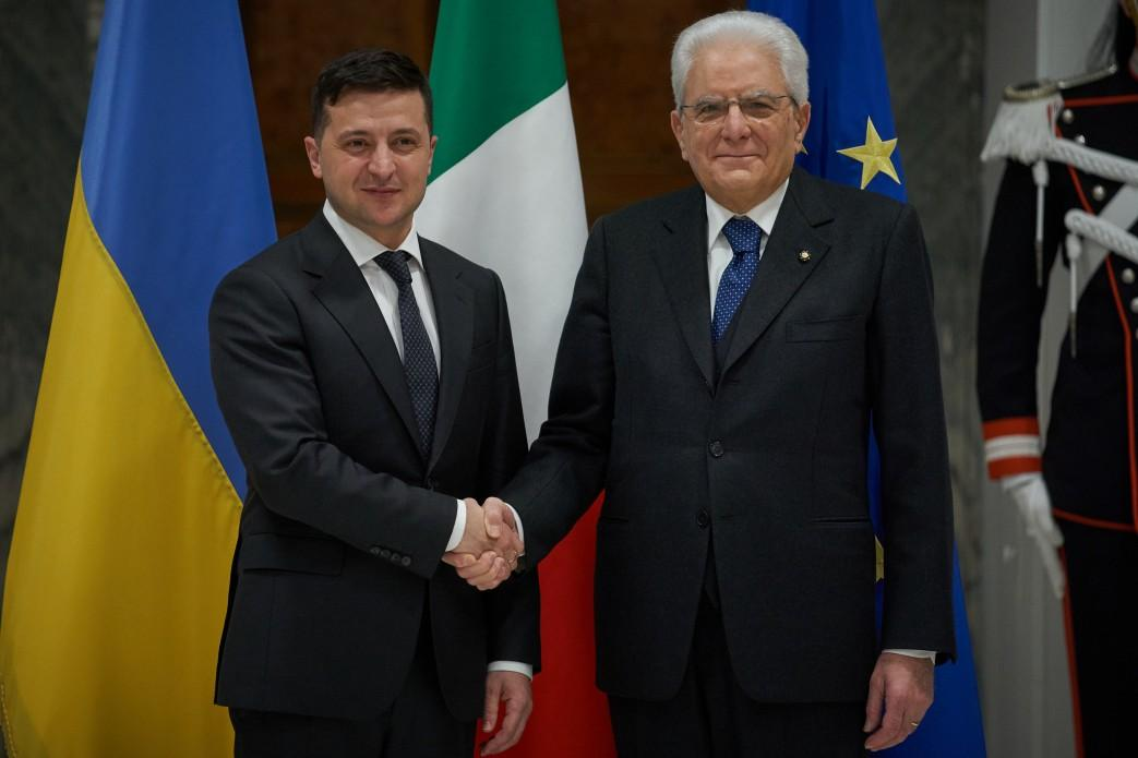 Zelensky at a meeting with his Italian counterpart / Photo from president.gov.ua