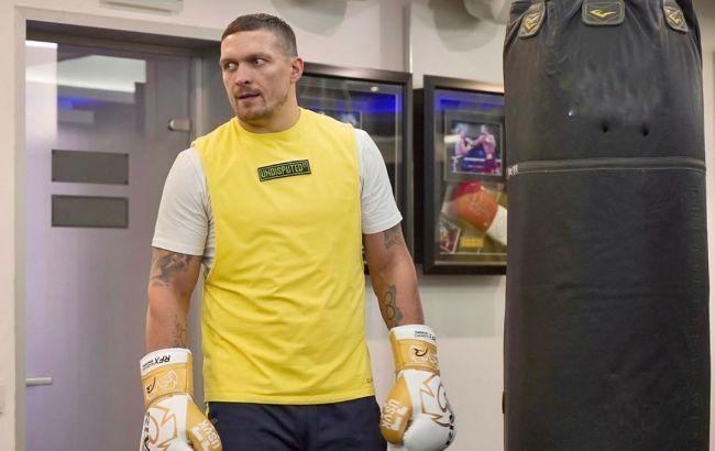 Усик тренується в Україні / фото: instagram.com/usykaa