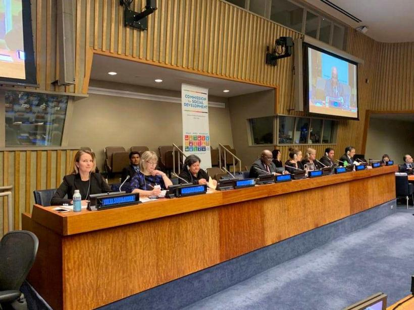 Юлія Соколовська презентувала в ООН пріоритети уряду у соціальній сфері / kmu.gov.ua