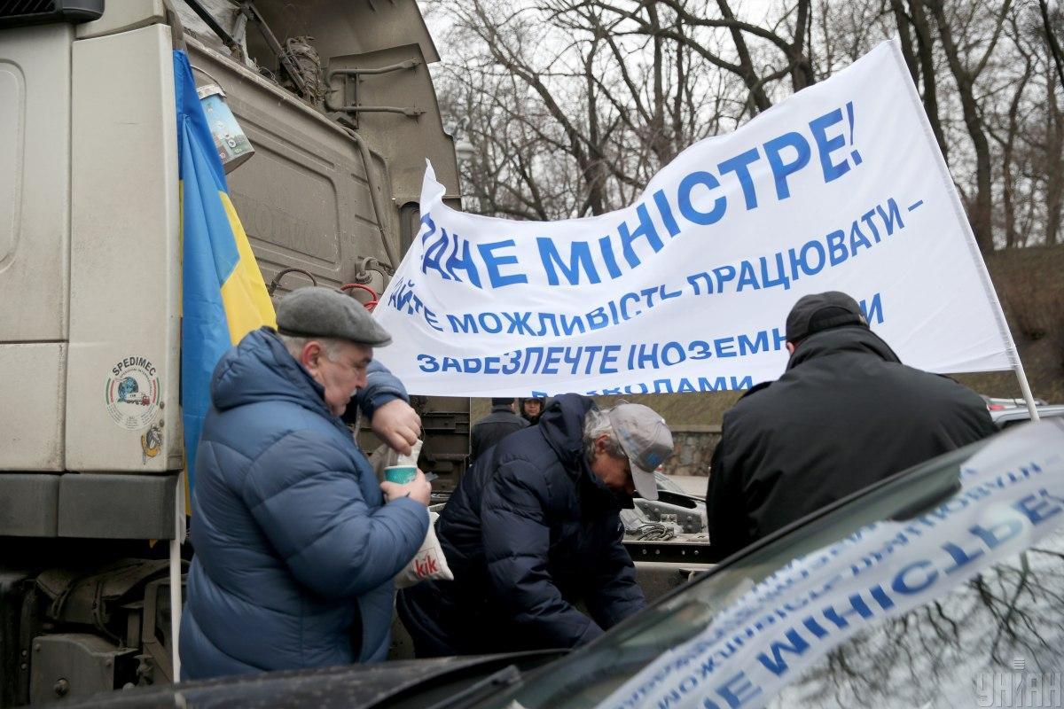 Министро согласился с претензией дальнобойщиков / фото УНИАН