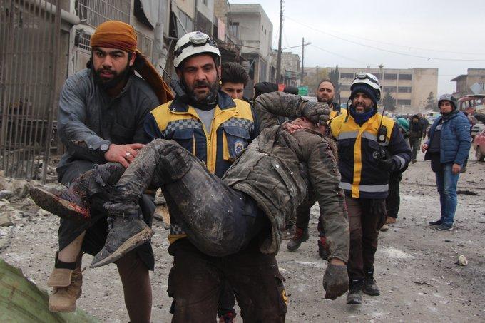 В результаті чергових авіаударів РФ загинули щонайменше 15 мирних мешканців/ фото twitter.com/SyriaCivilDef