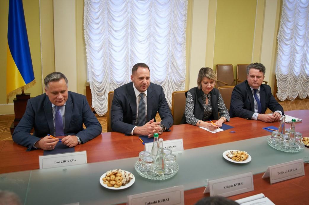 Темп щодо роботи над списками та поверненням людей не буде зменшено, пообіцяв Єрмак/ president.gov.ua