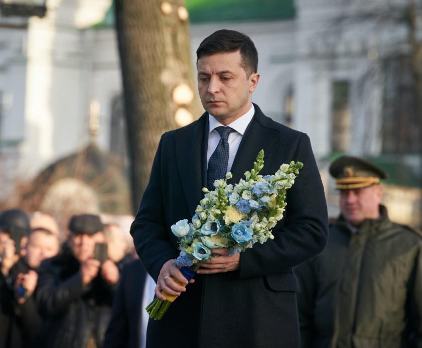 Участники церемонии почтили память павших граждан Украины president.gov.ua