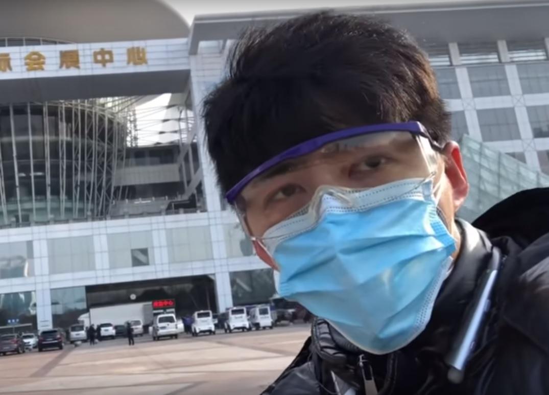 Чен Циуши освещал вспышку коронавируса в Китае / Фото: скриншот