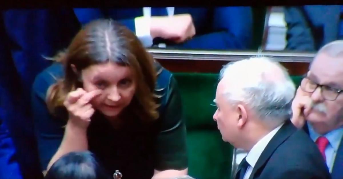 Депутатпоказує колегам середній палець/ скріншот