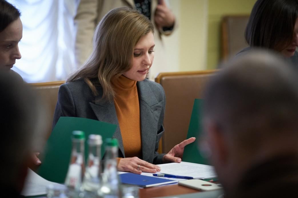 Zelenska is now in an isolation ward in a Kyiv hospital / Photo from president.gov.ua