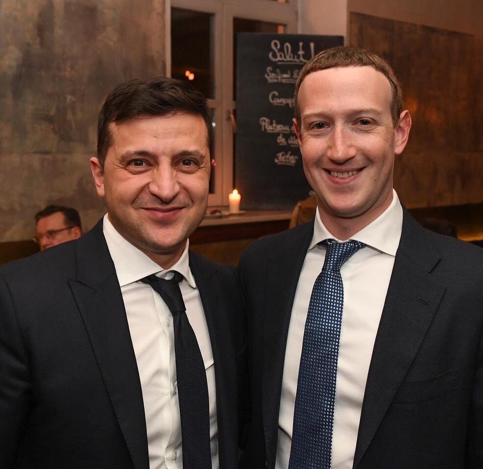 Владимир Зеленский с Марком Цукербергом /фото instagram.com/zelenskiy_official/